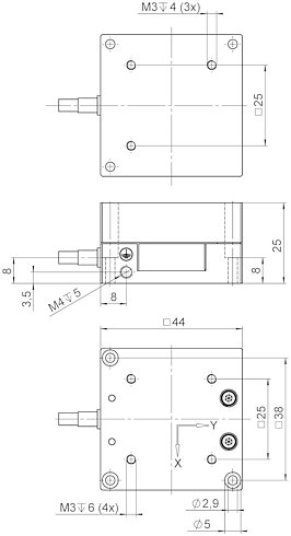 P-611.2S, dimensions in mm