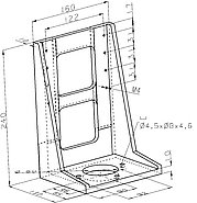 PI M-592.10 Z-Axis Mounting Bracket Drawing