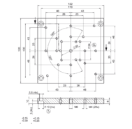 PI M-413.AP1 Adapter Plate Drawing