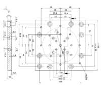 PI B-094.00 Adapter Plate Drawing