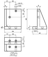 PI M-105.VB1 Z-Axis Mounting Bracket Drawing