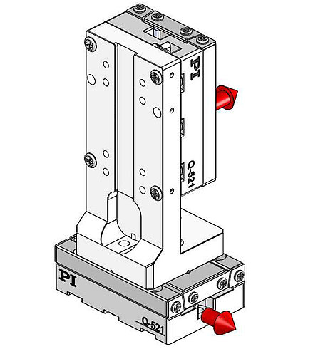 90° orientation of adapter bracket and upper axis to the lower axis